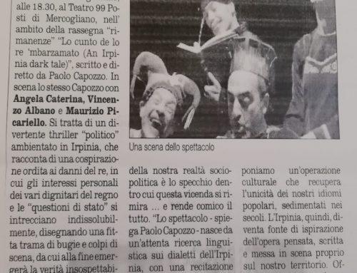 Lo cunto de lo re 'mbarzamato – in scena al Teatro 99 Posti